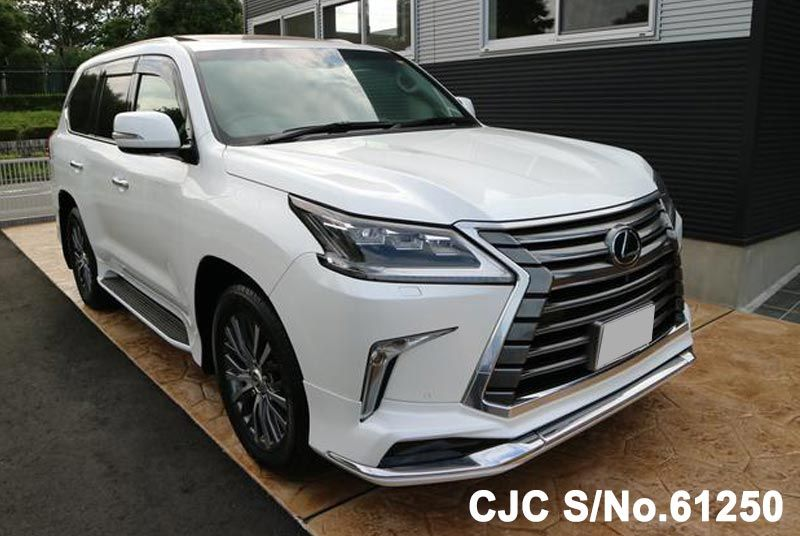 Lexus LX 570 in White color and 5.7L Petrol engine