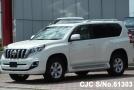 Left side Toyota Land Cruiser Prado 2.8L Diesel White color