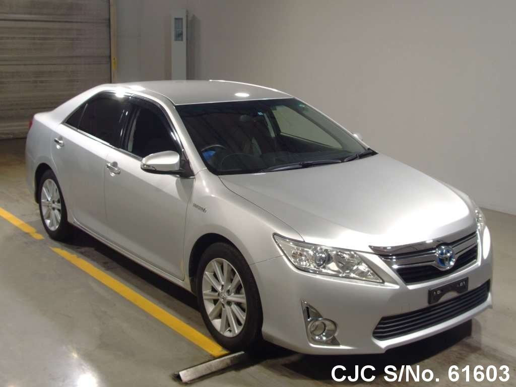 2012 toyota camry hybrid silver for sale stock no 61603 japanese used cars exporter. Black Bedroom Furniture Sets. Home Design Ideas