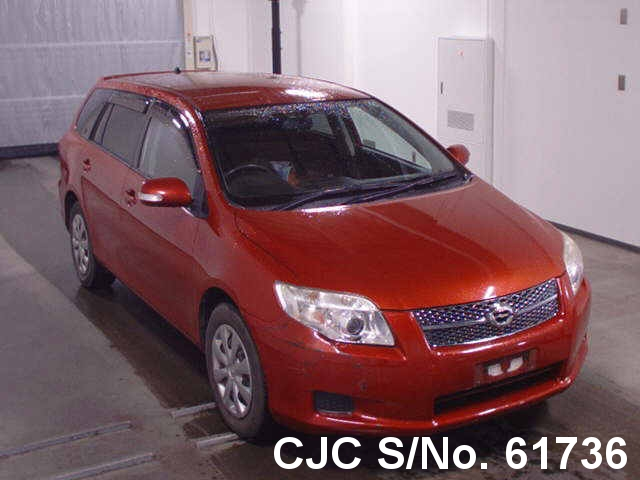 2008 toyota corolla fielder red for sale stock no 61736 japanese used cars exporter. Black Bedroom Furniture Sets. Home Design Ideas