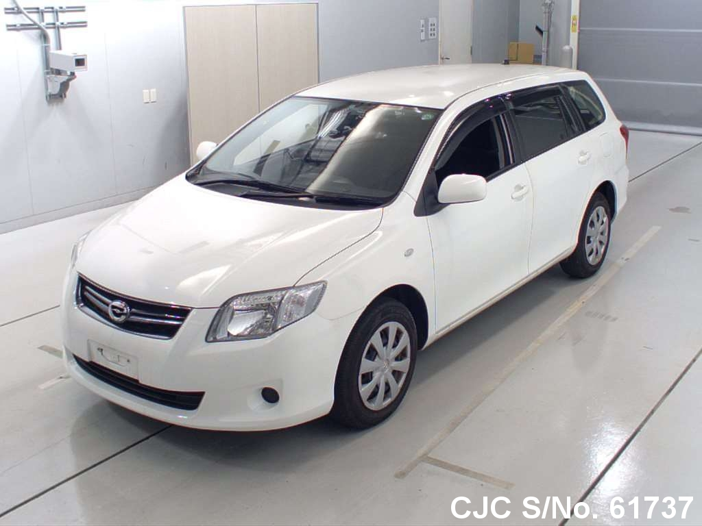 2010 toyota corolla fielder white for sale stock no 61737 japanese used cars exporter. Black Bedroom Furniture Sets. Home Design Ideas
