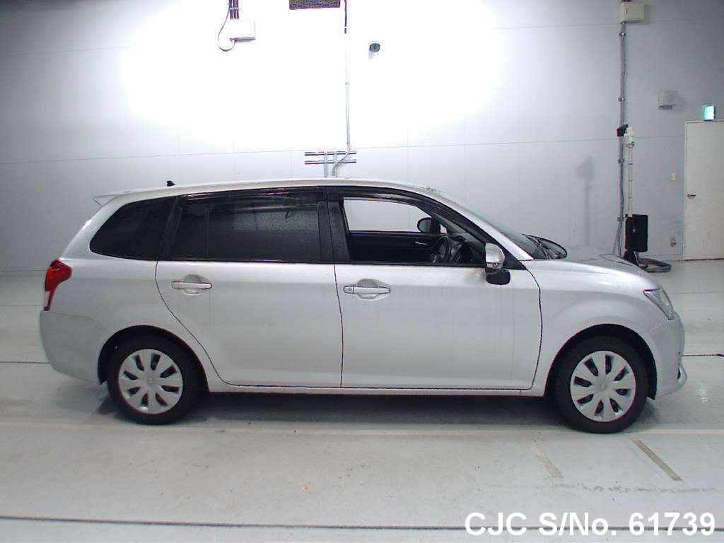 2012 toyota corolla fielder silver for sale stock no 61739 japanese used cars exporter. Black Bedroom Furniture Sets. Home Design Ideas