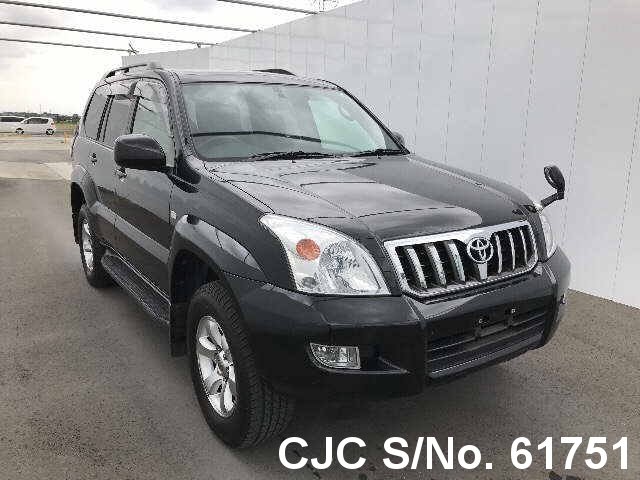 2004 toyota land cruiser prado black for sale stock no. Black Bedroom Furniture Sets. Home Design Ideas