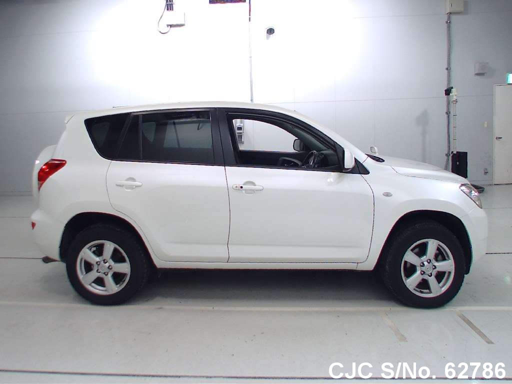 2007 toyota rav4 white for sale stock no 62786 japanese used cars exporter. Black Bedroom Furniture Sets. Home Design Ideas
