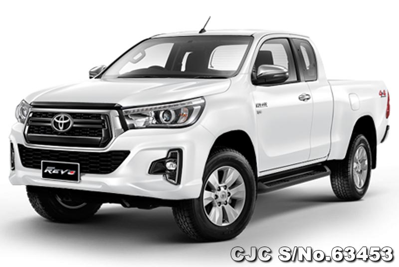 2018 toyota hilux white for sale stock no 63453 japanese used cars exporter. Black Bedroom Furniture Sets. Home Design Ideas