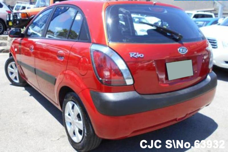 2006 kia rio red for sale stock no 63932 japanese used cars exporter. Black Bedroom Furniture Sets. Home Design Ideas