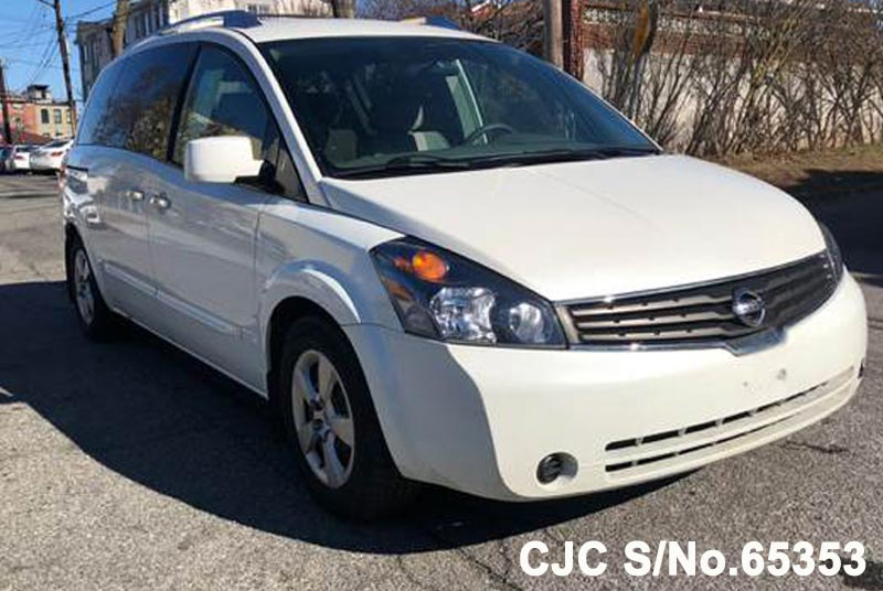 2007 left hand nissan quest white for sale stock no 65353 left hand used cars exporter. Black Bedroom Furniture Sets. Home Design Ideas