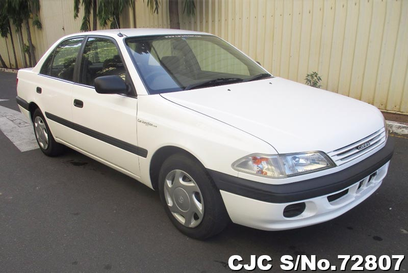 White Toyota Carina for Diplomats