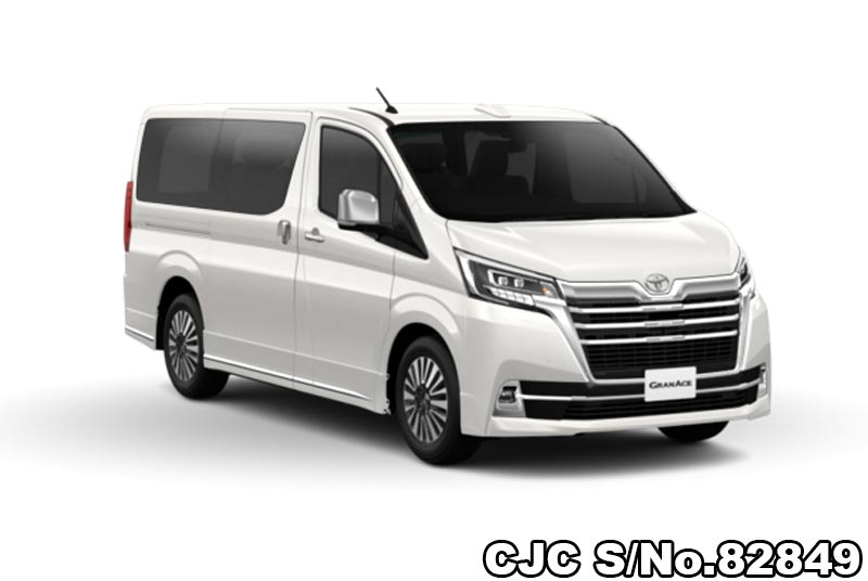 Pearl White Toyota GranAce for Diplomats
