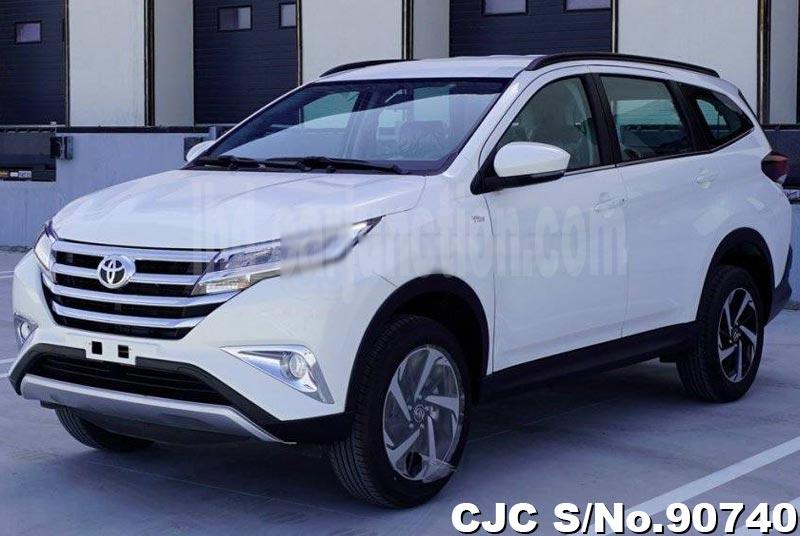 White Toyota Rush for Diplomats