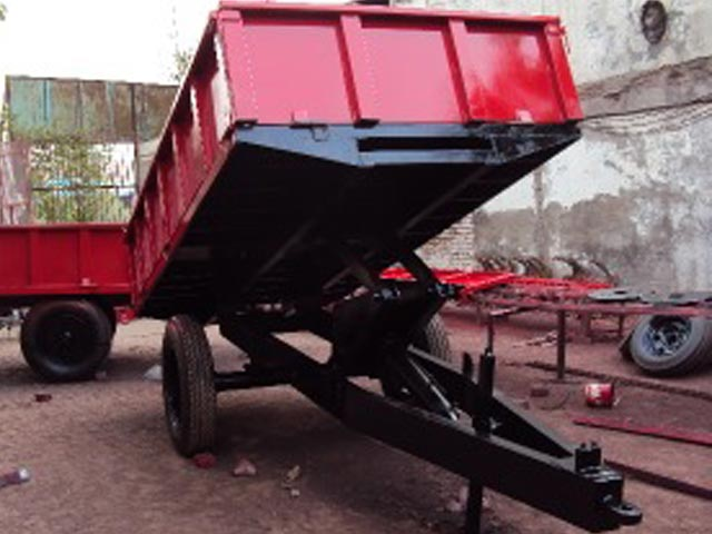 Tractor Implements Hydraulic Tipping Trailer For Sale