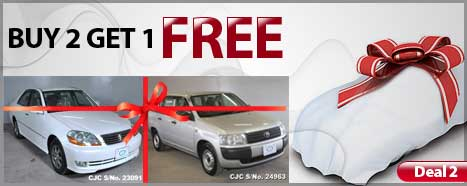 Japanese used cars - Special Deals with Free Car