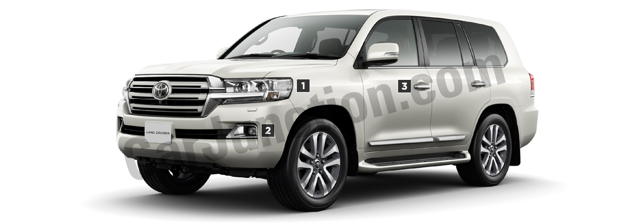 Toyota LAND CRUISER Front View