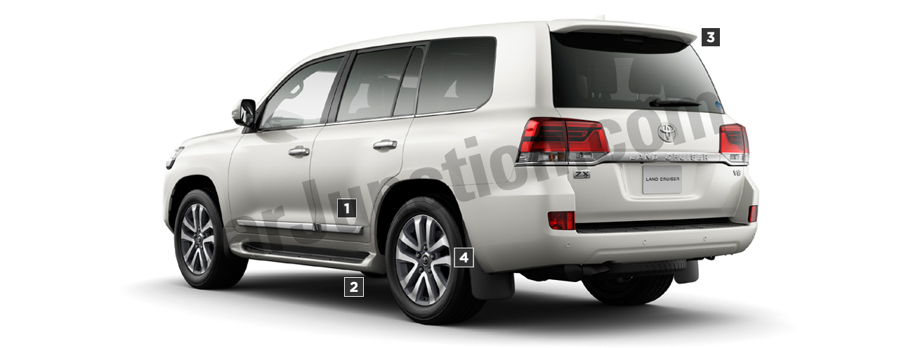 TOYOTA LAND CRUISER Back View