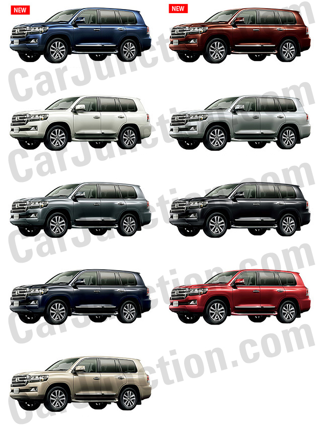 TOYOTA LAND CRUISER in Colors
