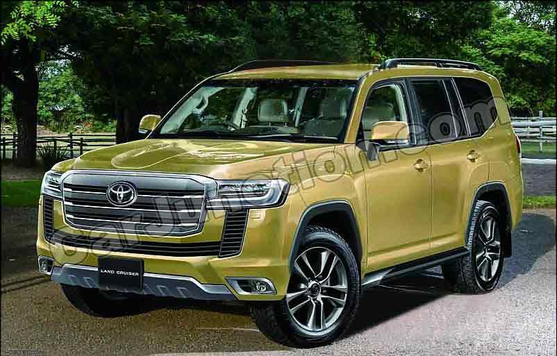 Toyota Landcruiser 2022 Beige Front