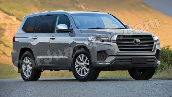 Toyota Landcruiser 2022 Silver Front
