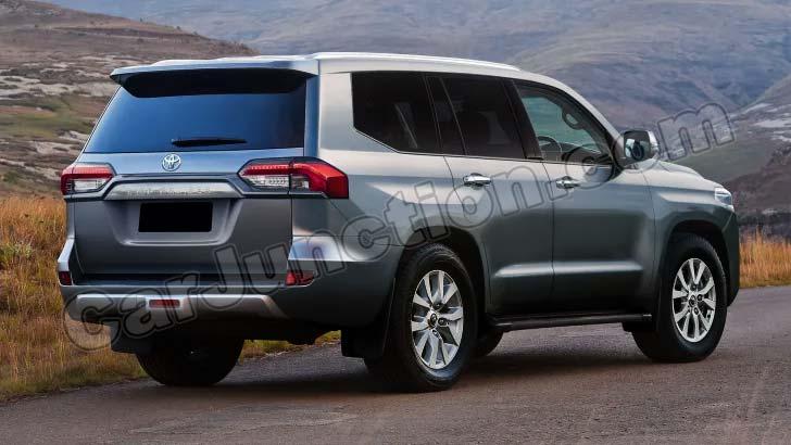 Toyota Landcruiser 2022 Silver Rear