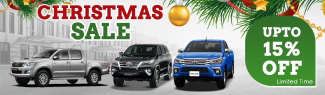Christmas Offer upto 15% OFF on Toyota Hilux Pickups from Thailand